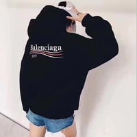 Balenciaga: Fashion Logo Hooded Sport Top Sweater Sweatshirt Hoodie