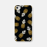 Black and Gold Pineapple iPhone 5c Case - Pineapple iPhone 5 Case - Pineapple iPhone 4s Case - Pineapple iPhone 5s Case - Black Pineapple