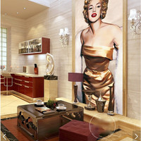 3D Room Wallpaper Custom Mural Non-Woven Wall Sticker Hand-Painted Marilyn Monroe Porch Painting Photo Wallpaper For Walls 3D