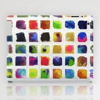 Watercolor Squares iPad Case by dani