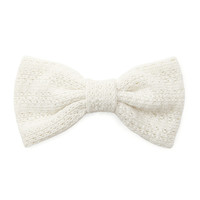 Textured Knit Bow Barrette