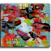 Canvas Wall Art by DiaNoche Designs, Small Song Birds