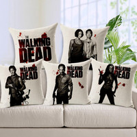 2015 new Personalized pillow cover the Walking Dead Pattern pillowcase bedding sets sofa throw pillow case home decoration