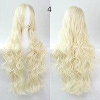 COS Wig Hair Extension woman wigs Hatsune Miku Cosplay Wig long hair wig wigs synthetic hair cap multicolor hair curly wig hair S2312-4