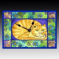 Big Fat Cat Wall Clock