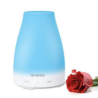 Essential Oil Diffuser, OU-BAND Aromatherapy Cool Mist Humidifier with Relaxing & Soothing Multi-colour LED Light Changing and Waterless Auto Shut-off Function for Home Office Bedroom Room