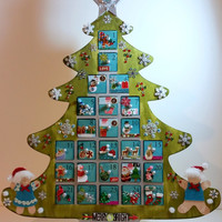 Personalized Wooden Christmas Advent Calendar