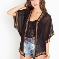 Beaded Kimono Jacket in  Clothes at Nasty Gal