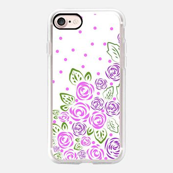 Garden Rose and Dots Lavender iPhone 7 Case by Lisa Argyropoulos | Casetify