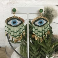 Pendant Evil Eye Earrings