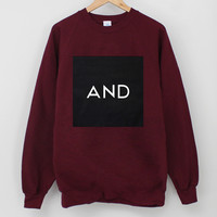 ANDCLOTHING — Burgundy AND Square Sweater