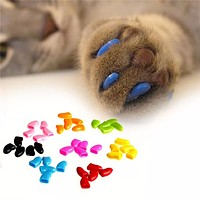 1 Pack Colorful Soft Non-Toxic Pet Cat Claw Covers