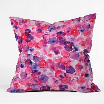 CMYKaren Rosettes Throw Pillow