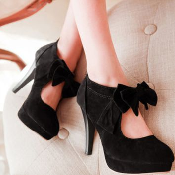 Hot style hot selling bow high heel stiletto shoes