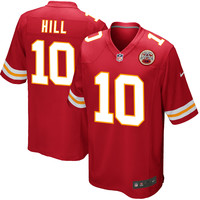 Men's Kansas City Chiefs Tyreek Hill Nike Red Game Jersey