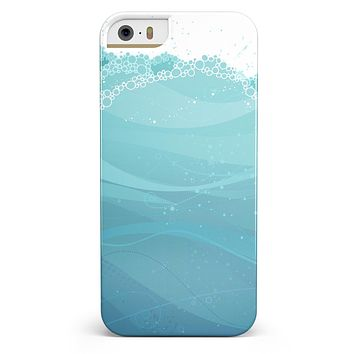 Abstract WaterWaves iPhone 5/5s or SE INK-Fuzed Case