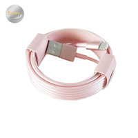 1m 2m 3m 8pin Rose Gold Charger Cable for iPhone 5 5S 6 6S Plus IOS9 Fast Charging