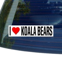 I Love Heart KOALA BEARS - Window Bumper Sticker