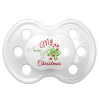"""""""Baby's First Christmas"""" CUSTOMIZABLE Pacifier BooginHead Pacifier"""