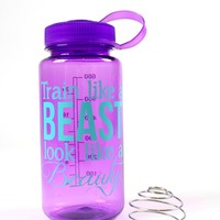 oGorgeous Gym Boutique - Train Like a Beast Water Bottle in Amethyst