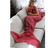 Knitted Mermaid Tail Air conditioning Blanket Handmade