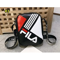 FILA Fashion Single Shoulder Bag with Printing and Splicing Colors Black #3