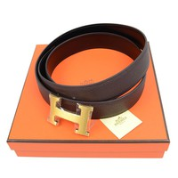 hermes belt, men hermes belt, women hermes belt, belt, belt hermes, belts for men, belts for women, Leather belt, men belt, mens belt, women belt,Auth Hermes Belt H Buckle Brown Black Reversible Leather Pre-owned 171213769