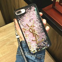 YSL Fashion Shining iPhone Phone Cover Case For iphone 6 6s 6plus 6s-plus 7 7plus