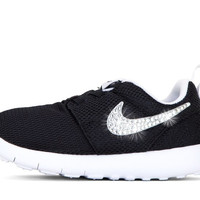 Girls' Nike Roshe One - Crystallized Swarovski Swoosh - Infant/Toddler (2c-10c) - Black