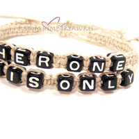 Her One His Only Couples Bracelets