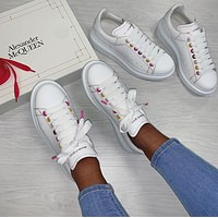 Alexander McQueen Casual Little white shoes-66