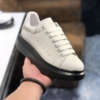 Alexander McQueen  Man Fashion Casual Shoes Men Fashion Boots fashionable Casual leather Breathable