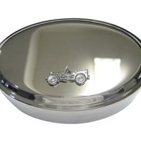 Silver Toned Jeep Car Oval Trinket Jewelry Box