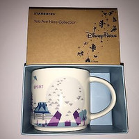 disney epcot starbucks you are here coffee mug silver monorail new with box