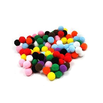 Pom Pons Assorted 1/2 Inch