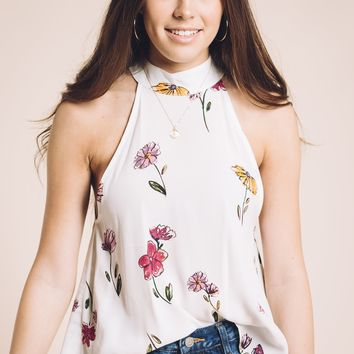 Botanicals Blouse in White