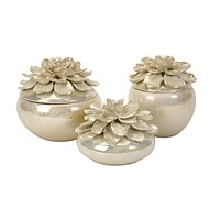 Classy Blair Hand-Sculpted Floral Boxes - Set of 3