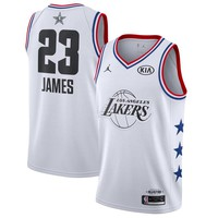 Men's Los Angeles Lakers LeBron James Jordan Brand White 2019 NBA All-Star Game Finished Swingman Jersey - Best Deal Online