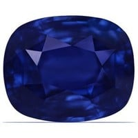 9.27 Carat Untreated Loose Blue Sapphire Cushion Cut