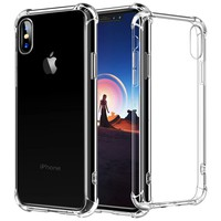 iPhone X Case, iPhone 10 Case, cresawis [Air Cushion] [Shock-Absorption] TPU Bumper Ultra Slim Protective Scratch-resistant Shockproof Case for Apple iPhone X / iPhone 10 - Clear (Clear)