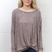 Get Twisted Brushed Hacci Sweaters {Mauve}