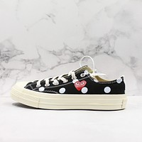CDG Play x Converse All Star Chuck Taylor 1970s Black Low-Top Sneakers