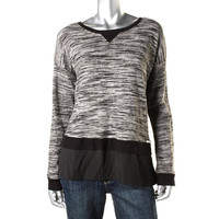 Calvin Klein Womens Knit Long Sleeves Pullover Sweater