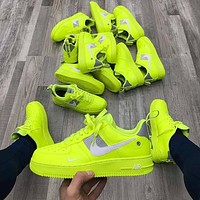 NIKE AIR FORCE 1 AF1 OW Running Sport Shoes Sneakers-4