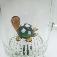 Funny green Tortoise Animal heady Water Pipes dab oil rig  Rigs Glass Water