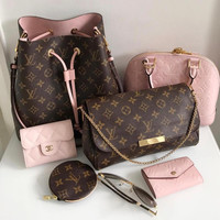 Louis Vuitton LV Popular Women Shopping Leather Metal Chain Crossbody Satchel Shoulder Bag And Purse Wallet I
