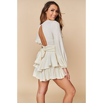 Mine Now Ruffle Romper (White)