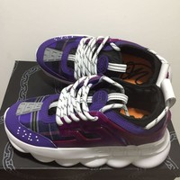 DCCK V011 Versace Fashion Breathable Height Increasing Shoes Purple