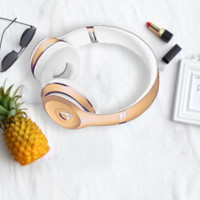 Beats Solo 3 Wireless Magic Sound Bluetooth Wireless Hands Headset MP3 Music Headphone With Microphone Line-in Socket TF Card Slot For Lovers For Women Men Gold