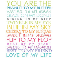 You Are The - Colorful Canvas Print, Posters